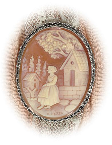 Rebekah At The Well Cameo Brooch
