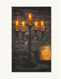 Enchanted Candelabra Lighted Canvas