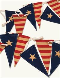 Old Glory Pennant Banner