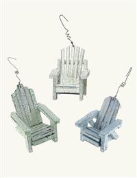 Adirondack Chair Ornaments (Set Of 3)