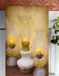 Oil Lamp Lighted Canvas