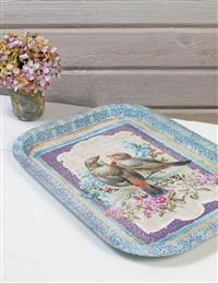 Lovebirds Serving Tray