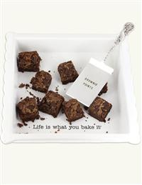 Life Is What You Bake It Brownie Dish