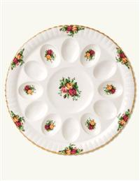 Old Country Roses Deviled Egg Dish