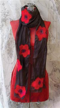 Poppy Tide Silk Scarf