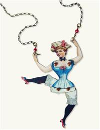 Dancing Damsel Puppet Necklace