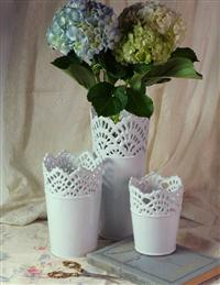 Lace Illusion Vase Collection