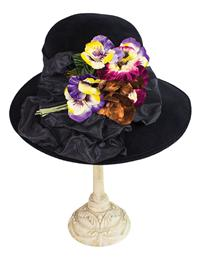 Louise Green Pansy Nosegay Hat
