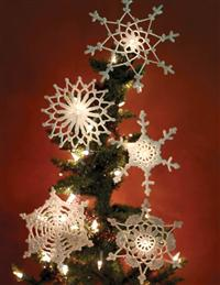Crocheted Snowflake Ornaments (Set Of 5)