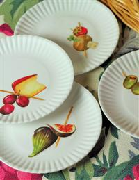 Hors D'oeuvres Picnic Plates Set Of 4