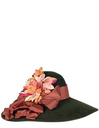 Louise Green Floppy Velour Hat