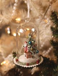 Christmas Eve Visitor Cloche Ornament