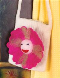 Cheerful Blossom Felted Purse