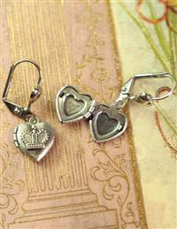 Queen Of Hearts Locket Earrings