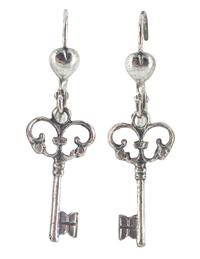 Antiquarian Key Earrings