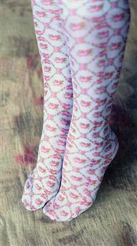 Trellis Rose Compression Socks