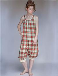 April Cornell Lassie Plaid Onesie