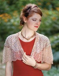 Prima Ballerina Blush Beaded Capelet