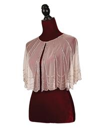 Pink Champagne Cape With Sequins