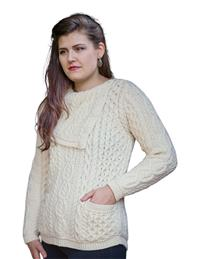Knit In Ireland Creamed Honey Sweater
