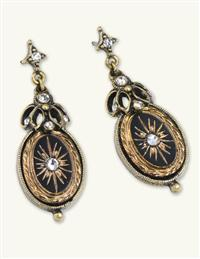 Victorian Jet Starburst Earrings