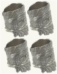 Feather Napkin Rings (Set Of 4)