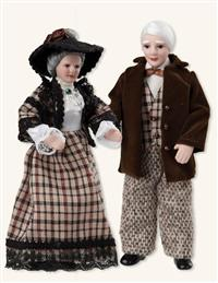 Grandparents Dollhouse Dolls (Set Of Two)