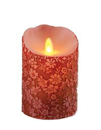 Queen Anne's Lace Flicker Candle (Crimson Petite)