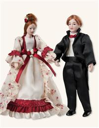 Parents Dollhouse Dolls (Set Of Two)