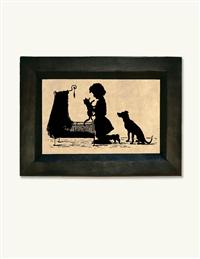 Cat In The Cradle Framed Silhouette