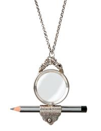 Crossword Puzzler's Pencil & Pendant Magnifier