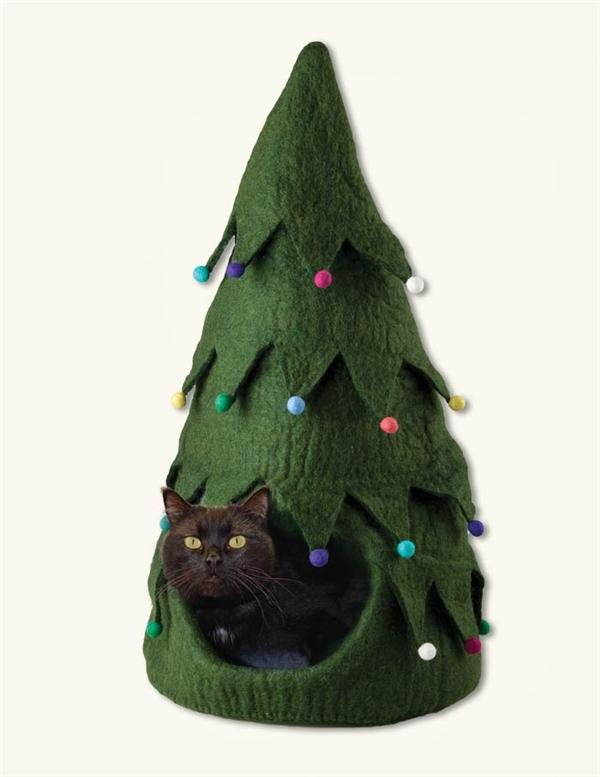 Christmas tree cat cave Christmas tree cat tower