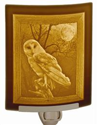 Barn Owl Lithophane Night Light