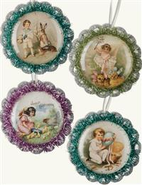 Easter's Arrival Ornaments (Set Of 4)