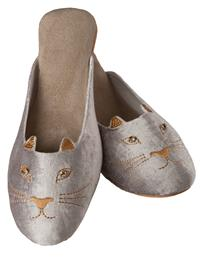 Pussyfoot Velvet Cat Slippers