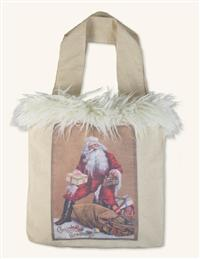 Jolly Old Saint Nicholas Canvas Tote