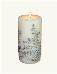 Ivory Lace Evermore Pillar Candle