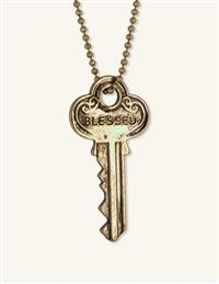 Keys To Happiness Pendant Necklace (Blessed)