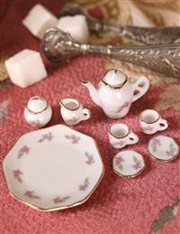 A Little Wee Tea Set In Pink Rose