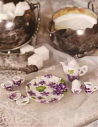 A Little Wee Tea Set In Violet