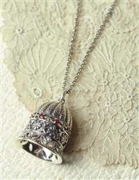 Sterling Silver Bell Necklace