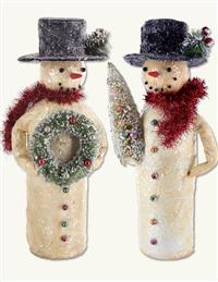 Sir Snowman Figurines (Pair)