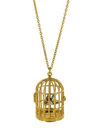 Gilded Bird Cage Necklace