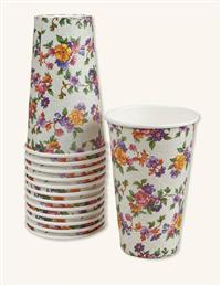 Chintz Paper Cups (Set Of 16)