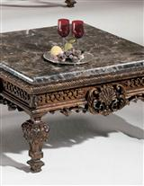 Marble Topped End Table
