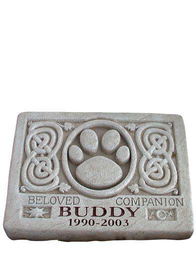 Celtic-style Pet Memorial Stone