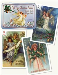 Oldtime Christmas Angel Playing Cards