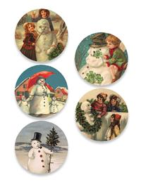 Old Snowmen Stickers