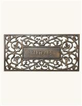 Personalized Filigree Door Mat