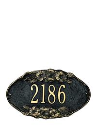 Pansy Oval Address Plaque